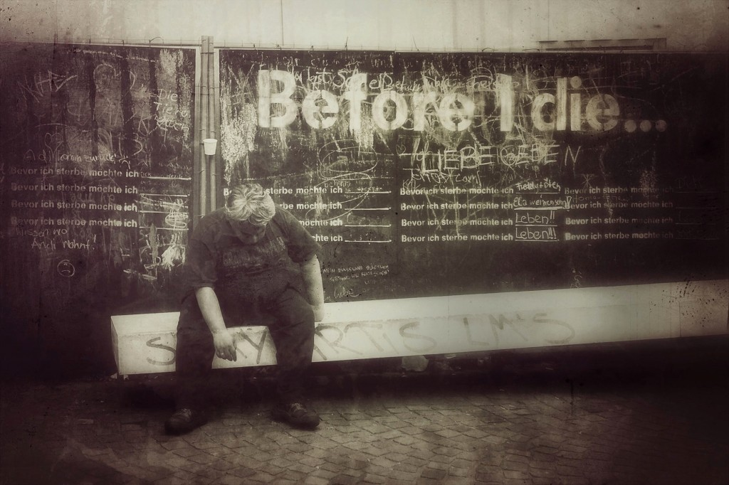 Before I Die by Sacha Dohmen (maktub street-dog)
